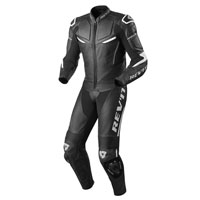 REV'IT MASARU LEATHER SUITS BLACK WHITE