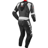 Rev'it Venom One-piece Suit Black-white  And Red