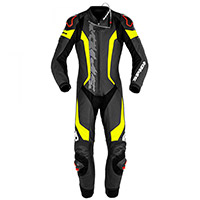 Tuta Spidi Laser Pro Perforated Nero Giallo Fluo