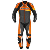 Spidi Race Warrior Perforated Leather Suit Orange