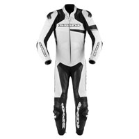 Spidi Race Warrior Perforated Leather Suit White