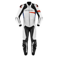 Spidi Race Warrior Perforated Leather Suit Red Blue