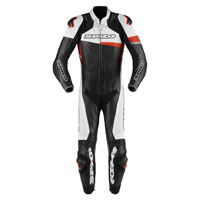 Spidi Race Warrior Perforated Leather Suit Red