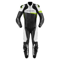 Spidi Race Warrior Perforated Leather Suit Green