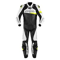 Spidi Race Warrior Touring traje 2 piezas azul amarillo