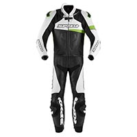 Spidi Race Warrior Touring 2pc Suit Green Kawasaki