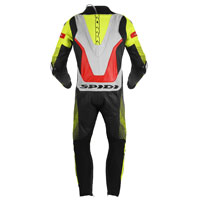 Tuta Spidi Supersonic Perforated Pro Giallo Rosso Fluo