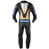 Traje de cuero Spidi Supersonic Perforated Pro azul