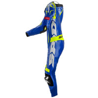 Spidi Tuta In Pelle Track Wind Replica Evo Blu