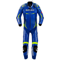 Spidi Track Wind Replica Evo Blue Leather Suit