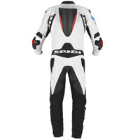 Spidi Warrior 2 Wind Pro Leather Suit Red Blue
