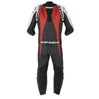 Spidi Supersport Touring Leather Suit Black White Red