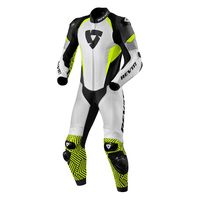 Rev'it Triton Leather Suit White Yellow