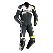 Ixon Leather Suit Mirage White Black Yellow Fluo