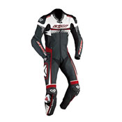 Ixon Leather Suit Mirage Black White Red