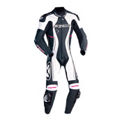Ixon Leather Suit Astrale Lady Black White Fuchsia