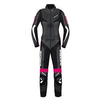 Spidi Poison Touring Leather Suit 2piece Black Fuchsia Lady