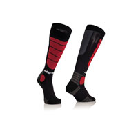 Acerbis Mx Impact Junior Black Red Socks Kid