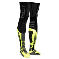 Acerbis X-leg Pro Socks Black Yellow