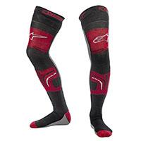 Calcetines Alpinestars Knee Brace negro rojo