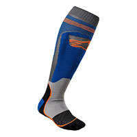 Calcetines Alpinestars Mx Plus 1 azul naranja
