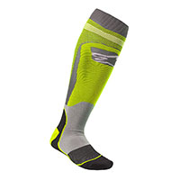 Alpinestars Mx Plus 1 Socks Yellow Gray
