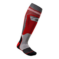Calcetines Alpinestars Mx Plus 1 rojo gris