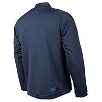 Maglia Klim Teton Merino Wool 1/4 Zip Navy Blu