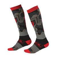 O Neal Pro Mx Camo V.22 Socks Black Red