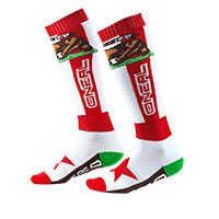 O Neal Pro Mx California Socks Red White
