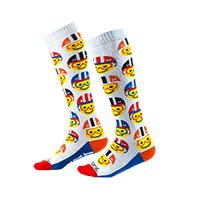 O Neal Pro Mx Emoji Racer Socks Multi