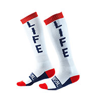 O Neal Pro Mx Moto Life Socks White Red