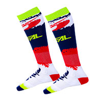 O Neal Pro Mx Revit Racer Socks Red Blue