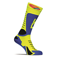 Sidi Tony Socks Blue Royal Yellow Fluo