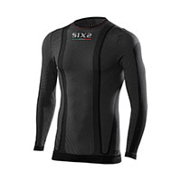 Six2 Girocollo Maniche Lunghe Thermo Carbon Underwear