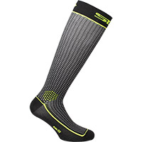 Six2 Long2 Socks Black Yellow