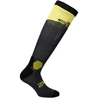 Six2 Long Racing Socks Grey Yellow Tour