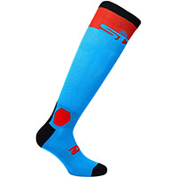 Six2 Long Racing Socks Turquoise Red