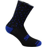 Six2 Merinos Socks Black Blue Line