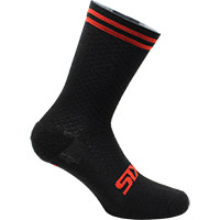 Six2 Merinos Socks Black Red Stripes