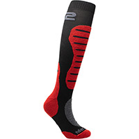 Six2 Mot2 Merinos Socks Black Red