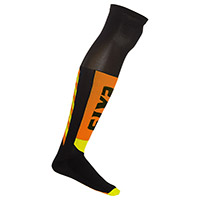Six2 Mot S Knee Socks Black Orange