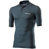 Six2 Polo T-shirt Petroleum