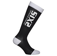 Six2 Recovery Compression White Black Socks