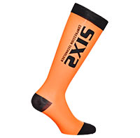Six2 Recovery Compression Orange Black Socks