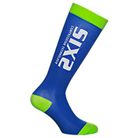 Six2 Recovery Compression Green Blue Socks