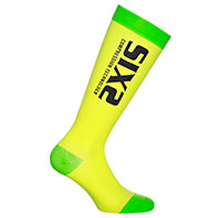 Six2 Recovery Compression Yellow Green Socks