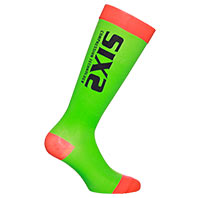 Six2 Recovery Compression Green Red Socks