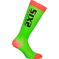 Six2 Recovery Socks Green Red