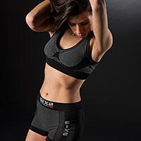 Six2 Reggiseno Sportivo Carbon Underwear 4stagioni Donna